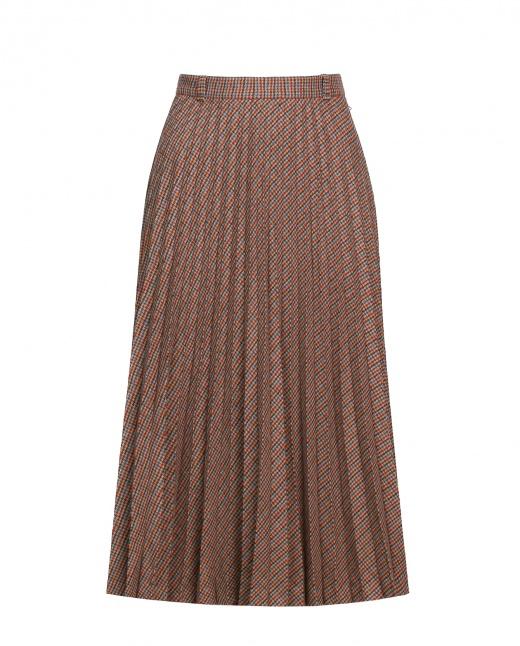 4ae8524565a Купить плиссированную юбку миди из шерсти от R95TH в интернет-магазине